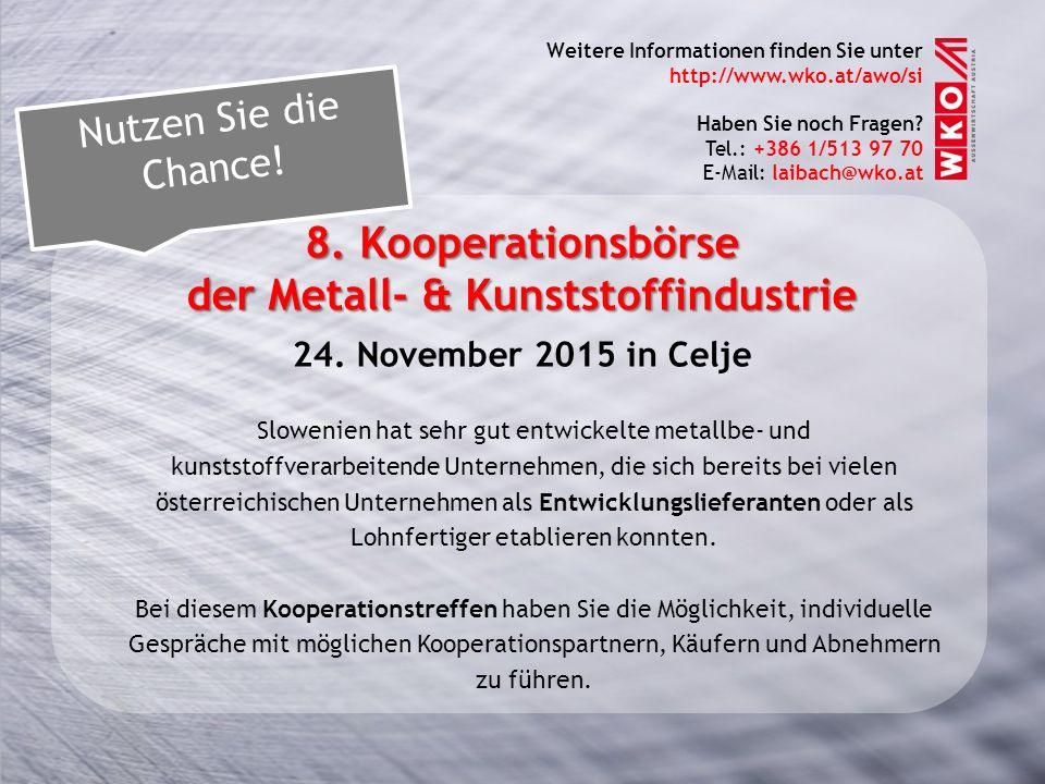 der Metall- & Kunststoffindustrie