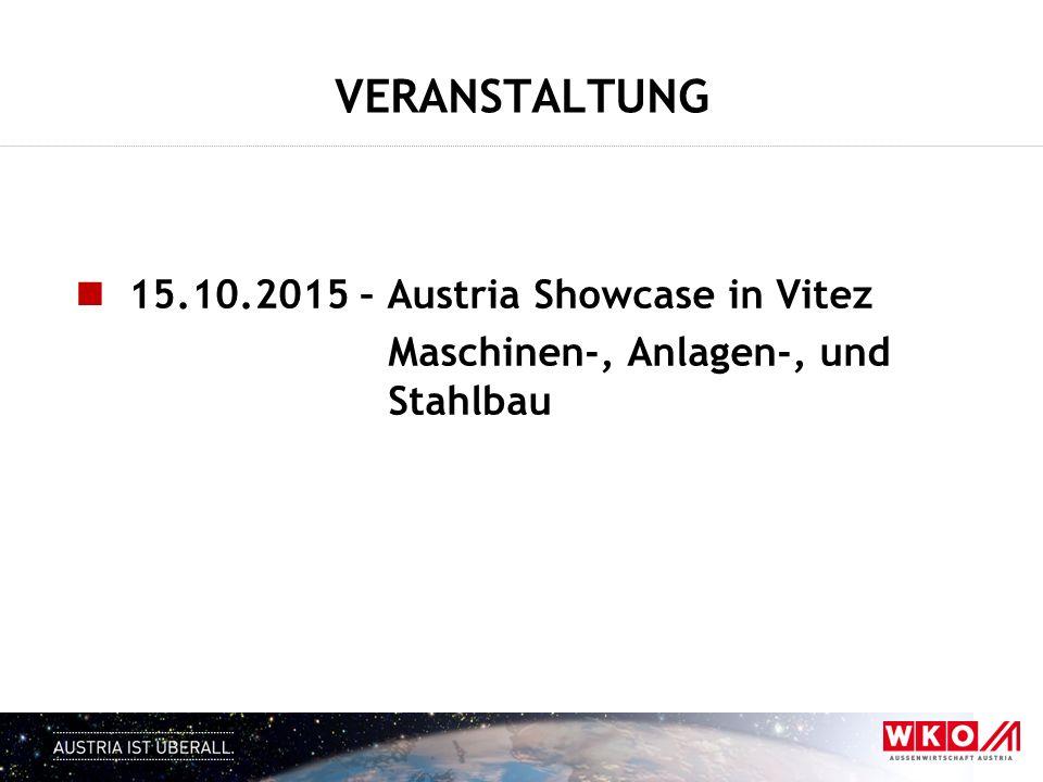 VERANSTALTUNG 15.10.2015 – Austria Showcase in Vitez
