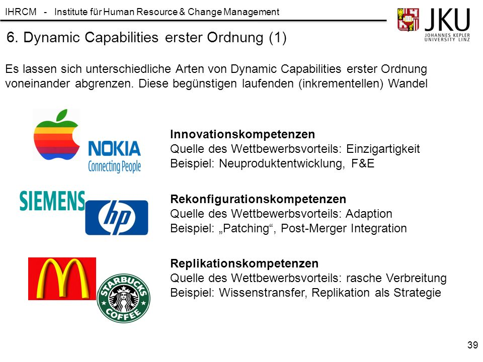 6. Dynamic Capabilities erster Ordnung (1)