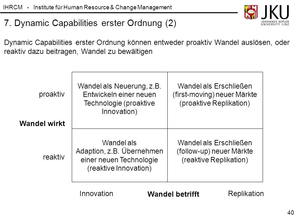 7. Dynamic Capabilities erster Ordnung (2)