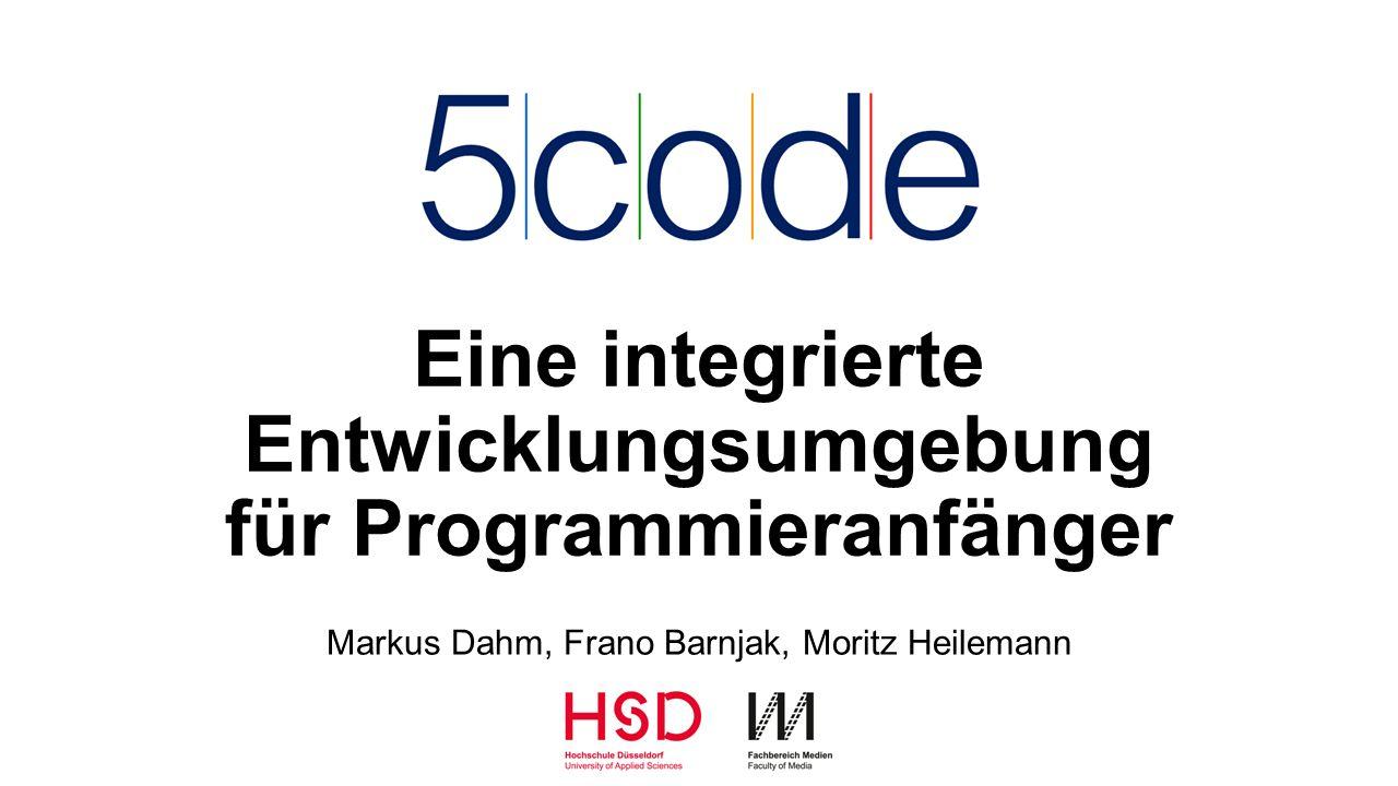 Eine integrierte Entwicklungsumgebung für Programmieranfänger