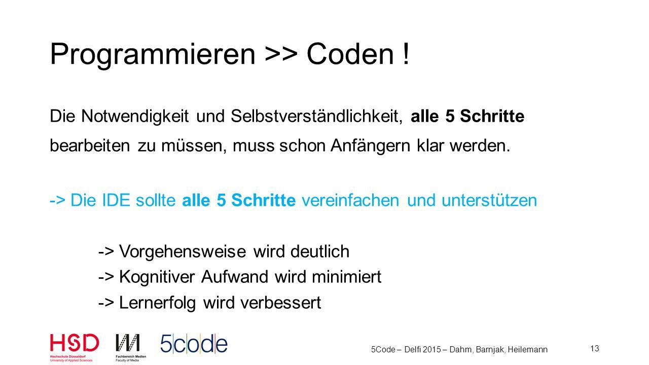 Programmieren >> Coden !