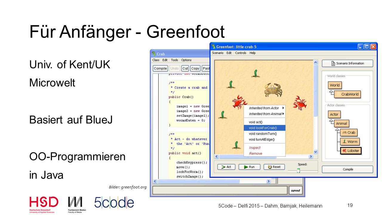 Für Anfänger - Greenfoot