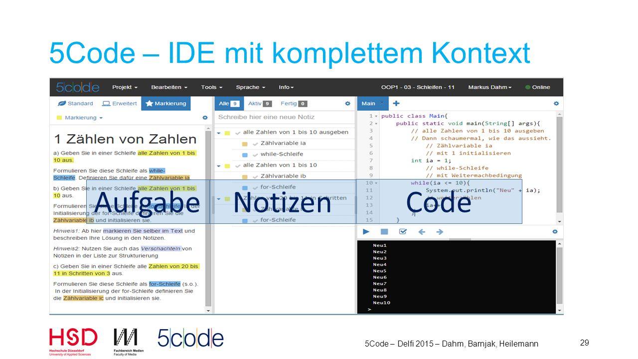 5Code – IDE mit komplettem Kontext