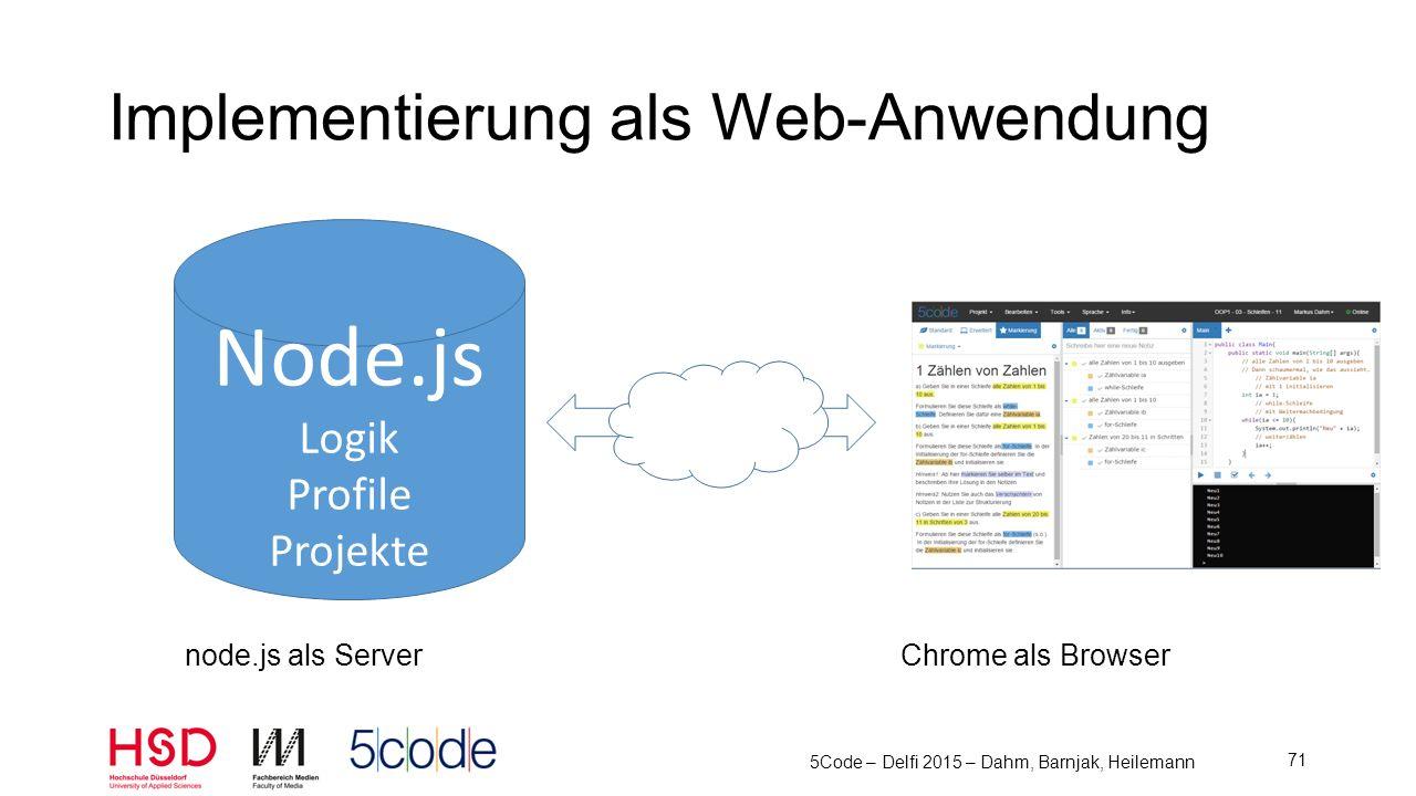 Implementierung als Web-Anwendung