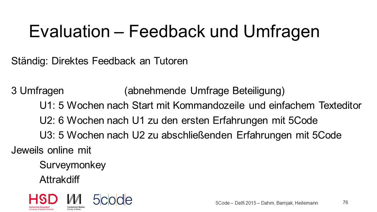Evaluation – Feedback und Umfragen