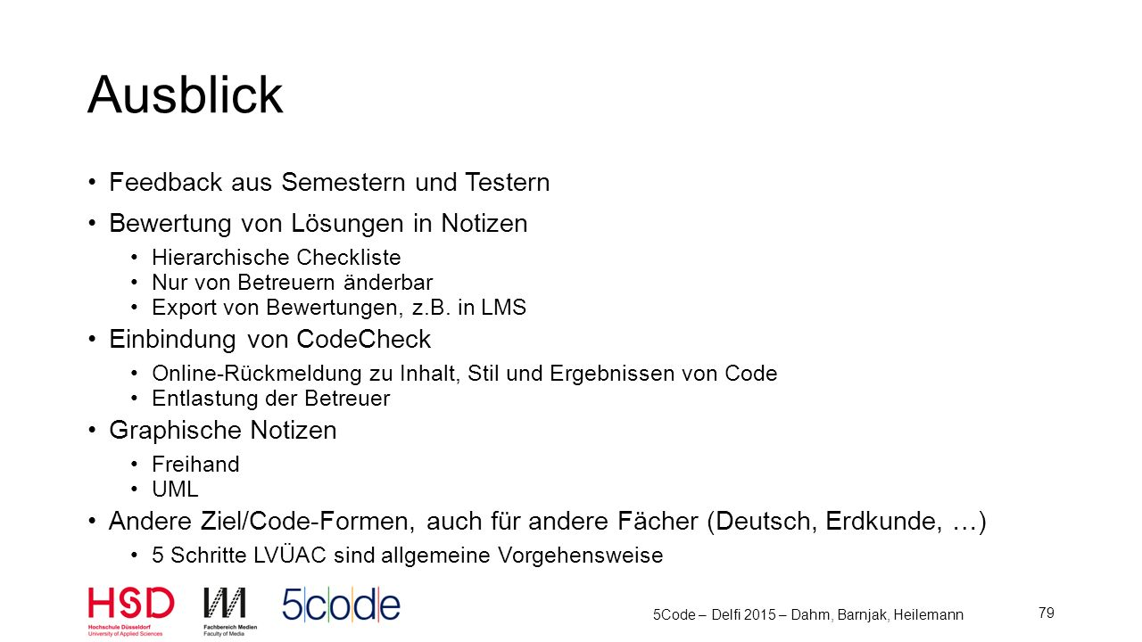 5Code – Delfi 2015 – Dahm, Barnjak, Heilemann