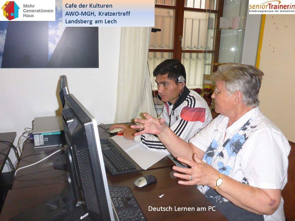Deutsch Lernen am PC Cafe der Kulturen AWO-MGH, Kratzertreff