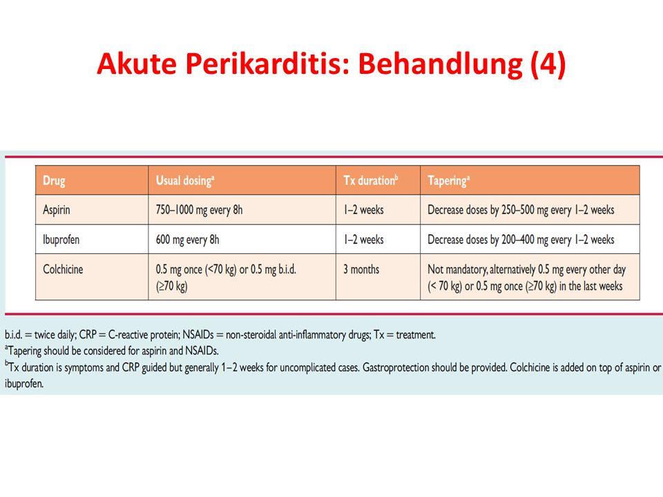 Akute Perikarditis: Behandlung (4)