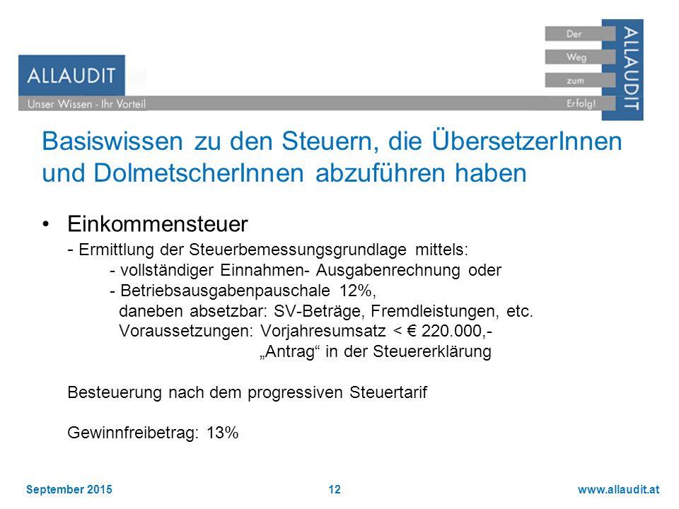Basiswissen zu den Steuern, die ÜbersetzerInnen und DolmetscherInnen abzuführen haben