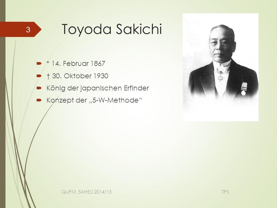 Toyoda Sakichi * 14. Februar 1867 † 30. Oktober 1930