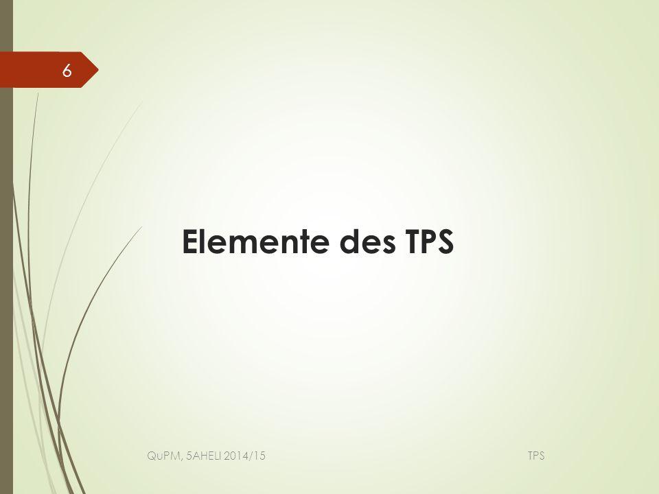 Elemente des TPS QuPM, 5AHELI 2014/15 TPS.