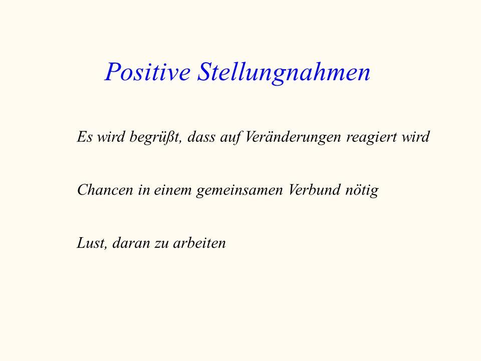 Positive Stellungnahmen