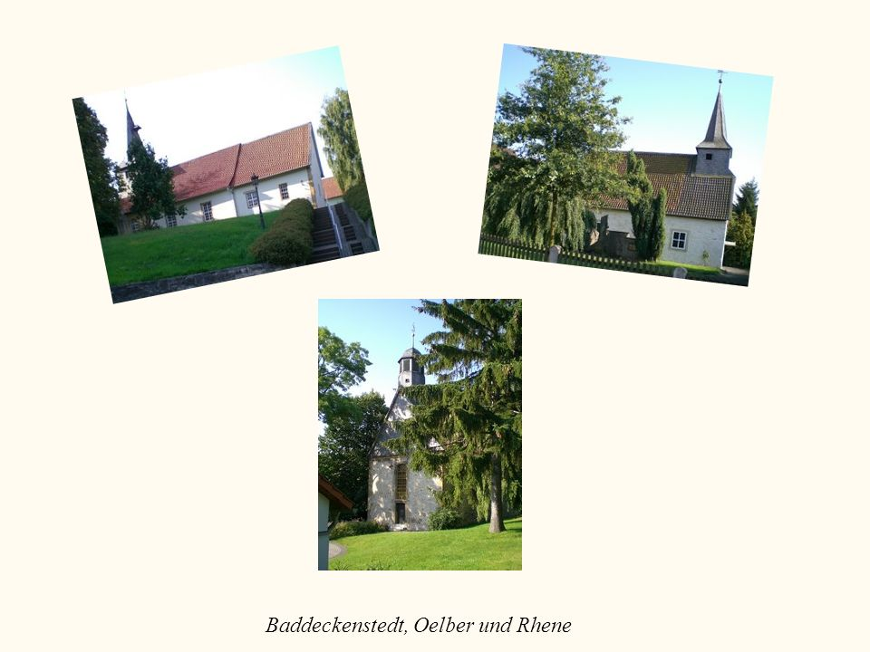 Baddeckenstedt, Oelber und Rhene