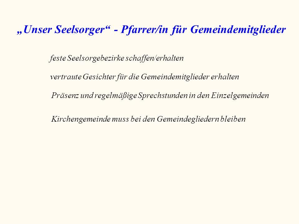 """""""Unser Seelsorger - Pfarrer/in für Gemeindemitglieder"""