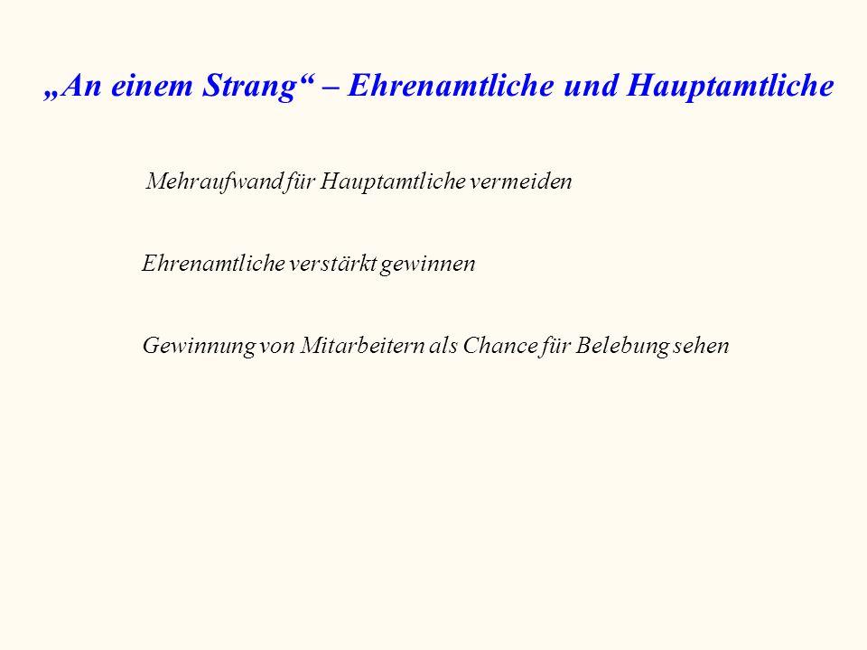 """""""An einem Strang – Ehrenamtliche und Hauptamtliche"""
