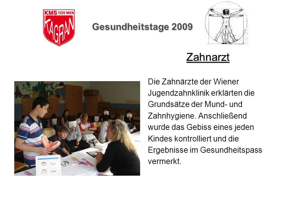 Zahnarzt Gesundheitstage 2009 Die Zahnärzte der Wiener