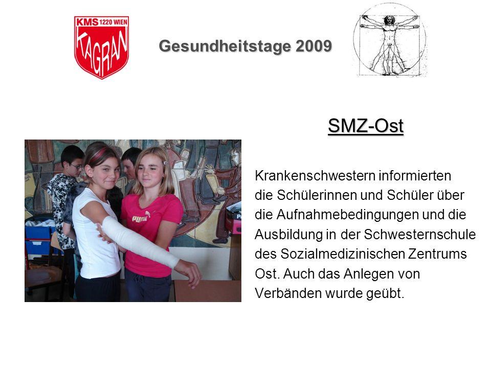 SMZ-Ost Gesundheitstage 2009 Krankenschwestern informierten