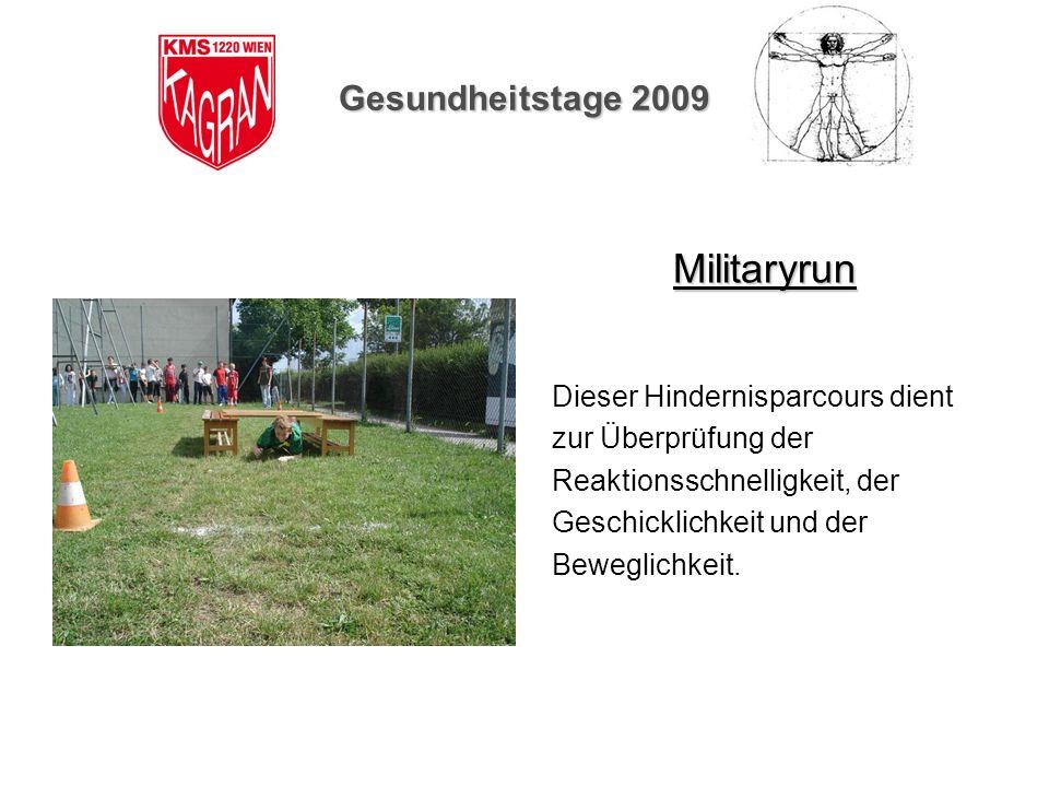 Militaryrun Gesundheitstage 2009 Dieser Hindernisparcours dient