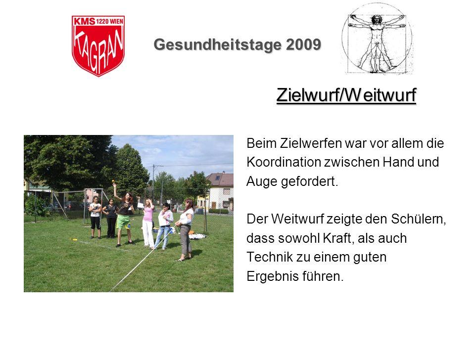 Zielwurf/Weitwurf Gesundheitstage 2009
