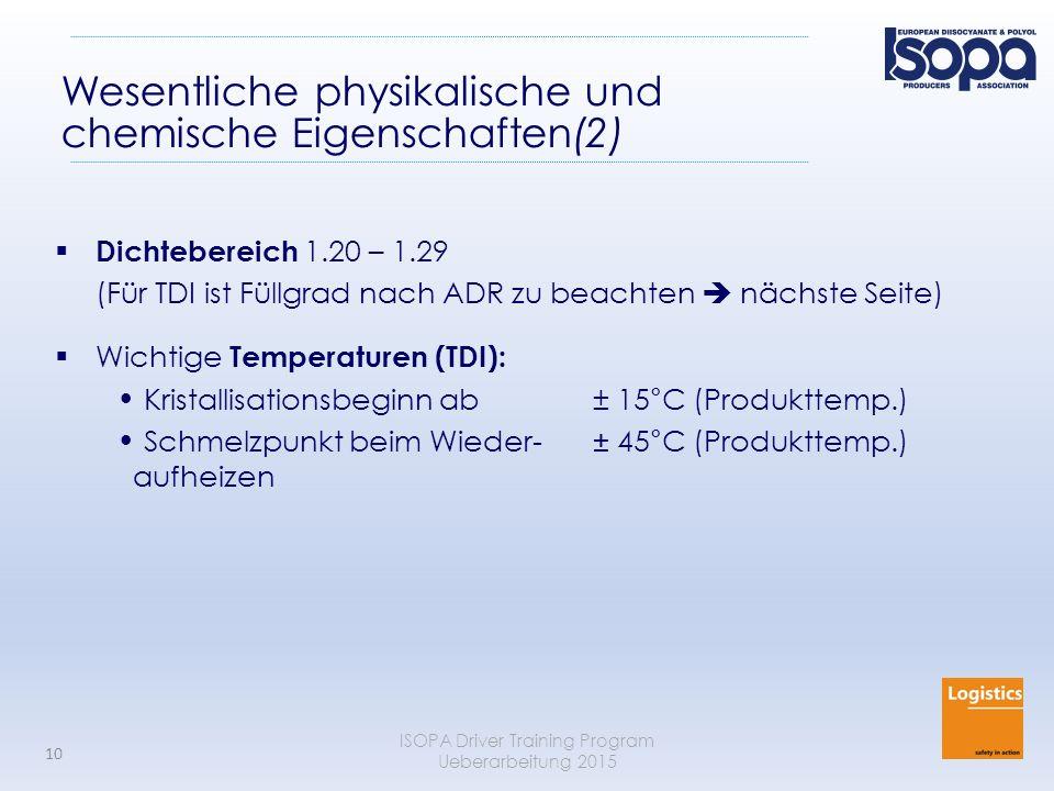 Wesentliche physikalische und chemische Eigenschaften(2)