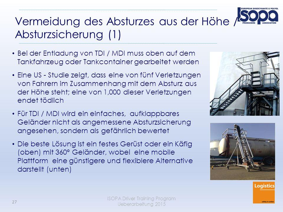 Vermeidung des Absturzes aus der Höhe / Absturzsicherung (1)