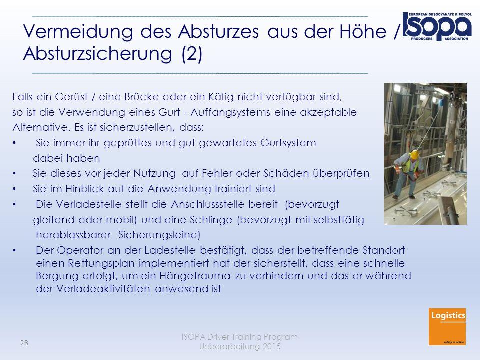 Vermeidung des Absturzes aus der Höhe / Absturzsicherung (2)