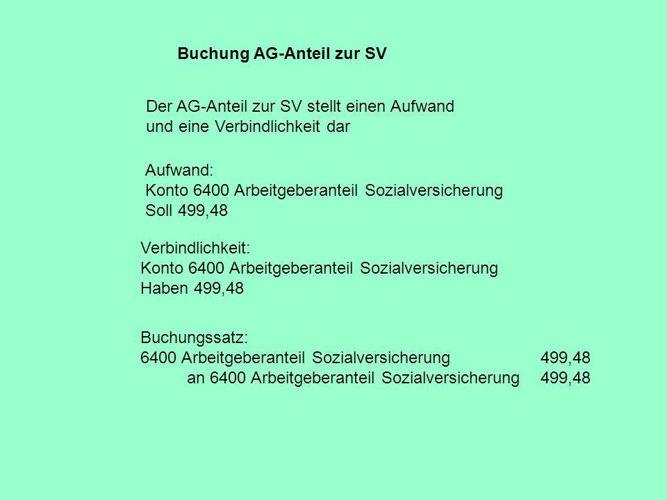 Buchung AG-Anteil zur SV