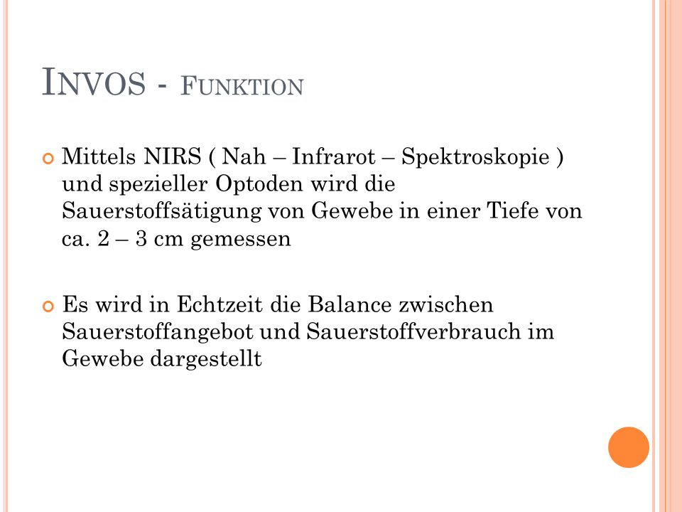 Invos - Funktion