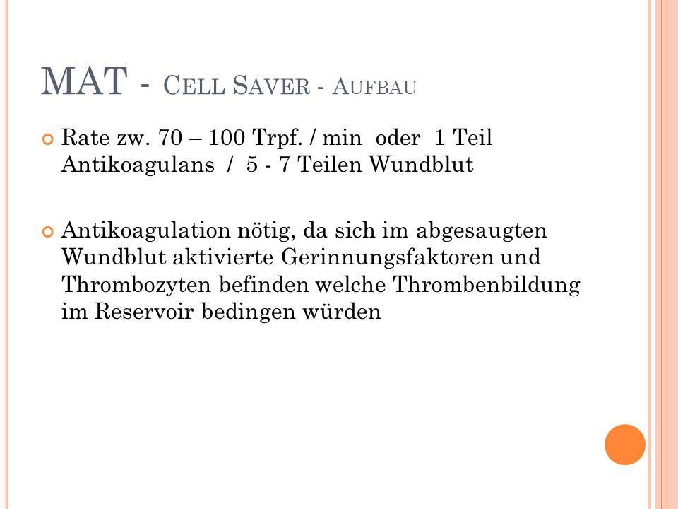 MAT - Cell Saver - Aufbau