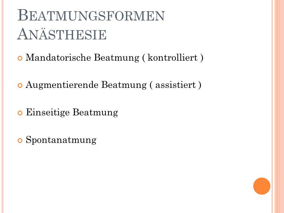 Beatmungsformen Anästhesie