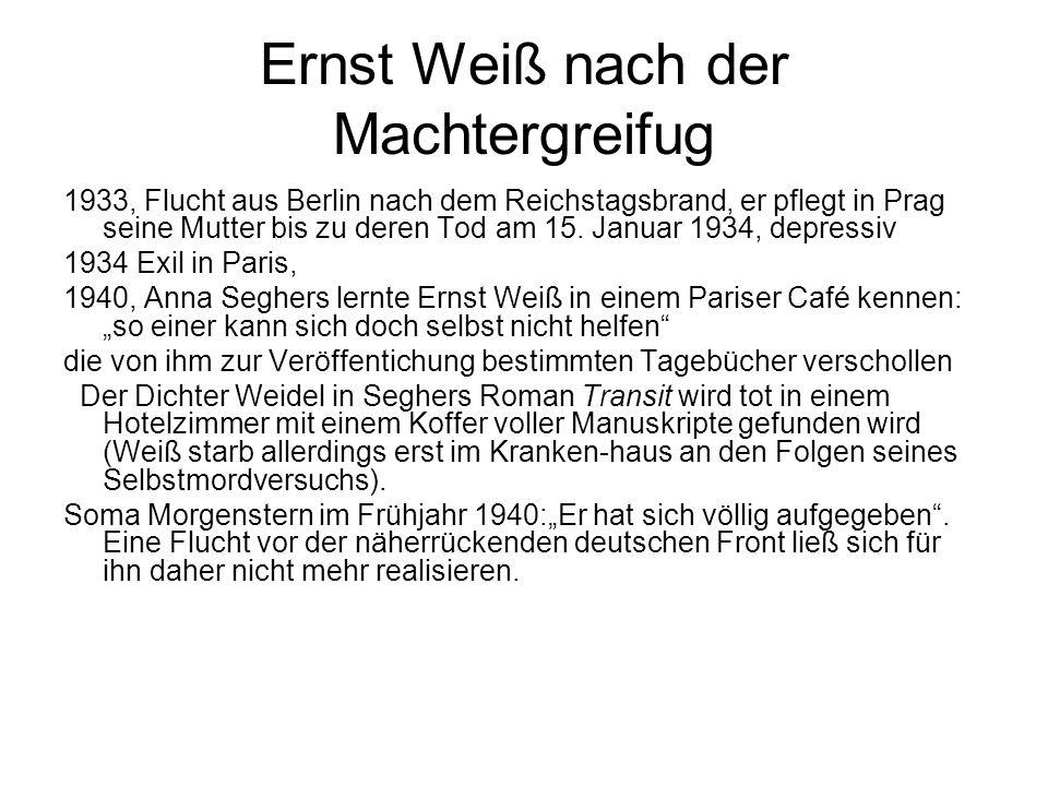 Ernst Weiß nach der Machtergreifug
