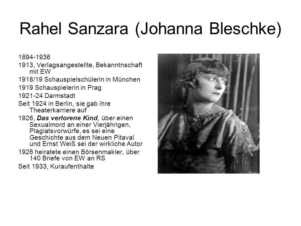Rahel Sanzara (Johanna Bleschke)