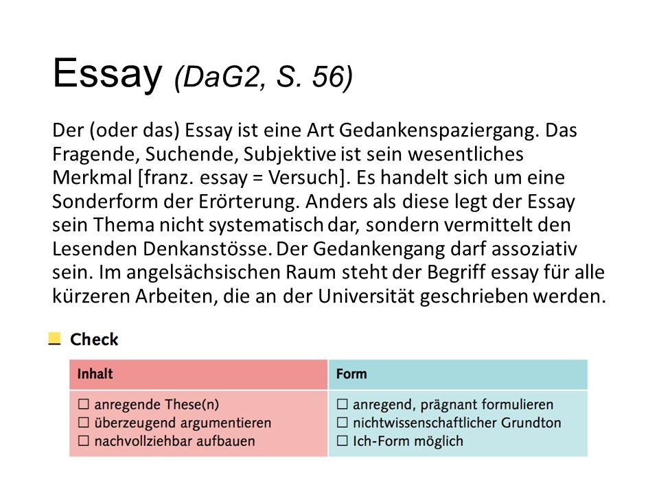 Essay (DaG2, S. 56)