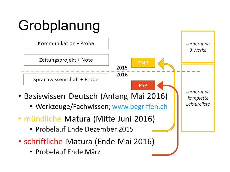 Grobplanung Basiswissen Deutsch (Anfang Mai 2016)