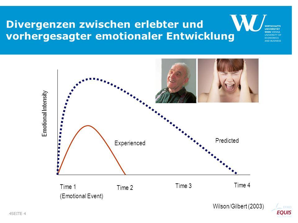 Divergenzen zwischen erlebter und vorhergesagter emotionaler Entwicklung