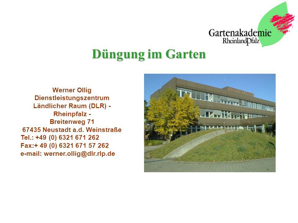 Düngung im Garten Werner Ollig