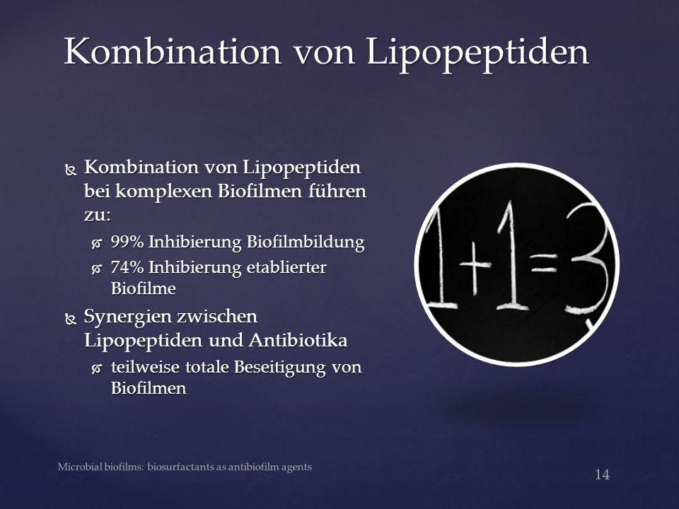 Kombination von Lipopeptiden