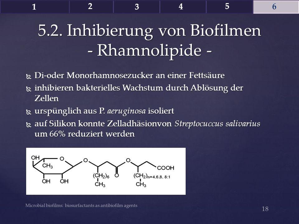 5.2. Inhibierung von Biofilmen - Rhamnolipide -