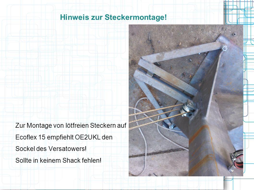 Hinweis zur Steckermontage!