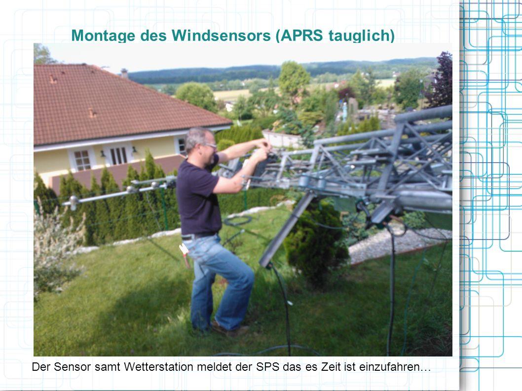 Montage des Windsensors (APRS tauglich)