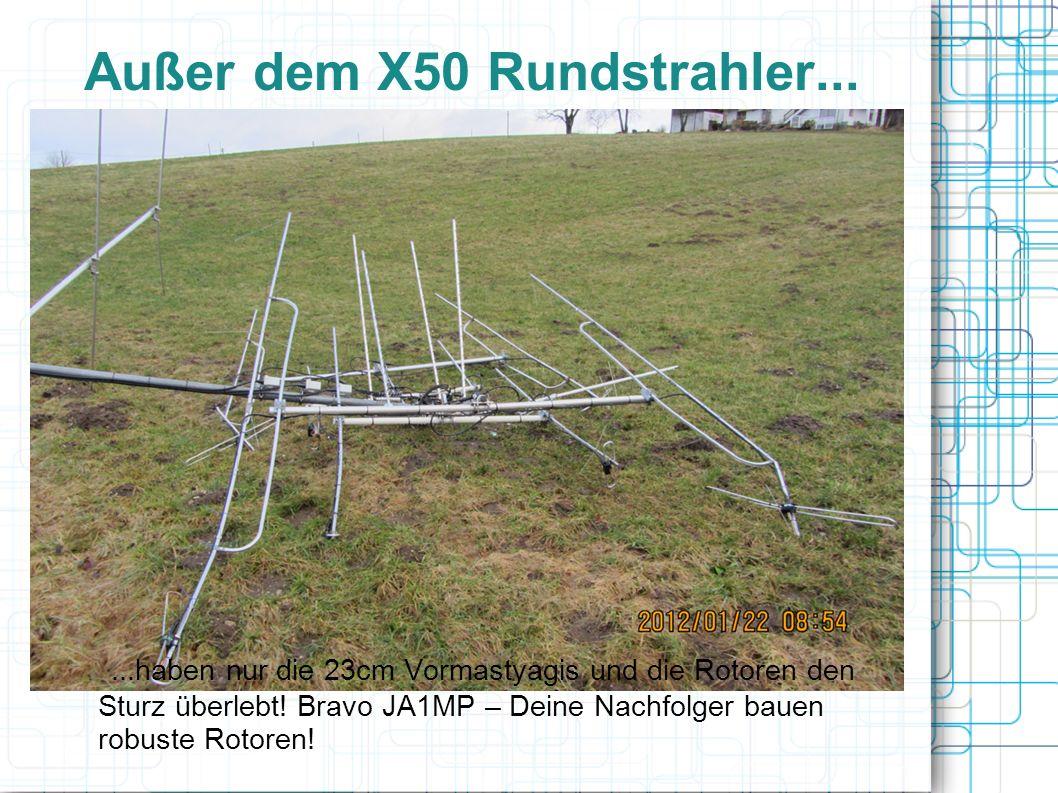 Außer dem X50 Rundstrahler...