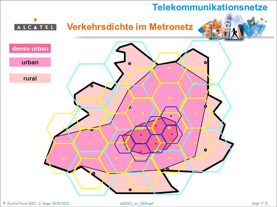 Telekommunikationsnetze Verkehrsdichte im Metronetz