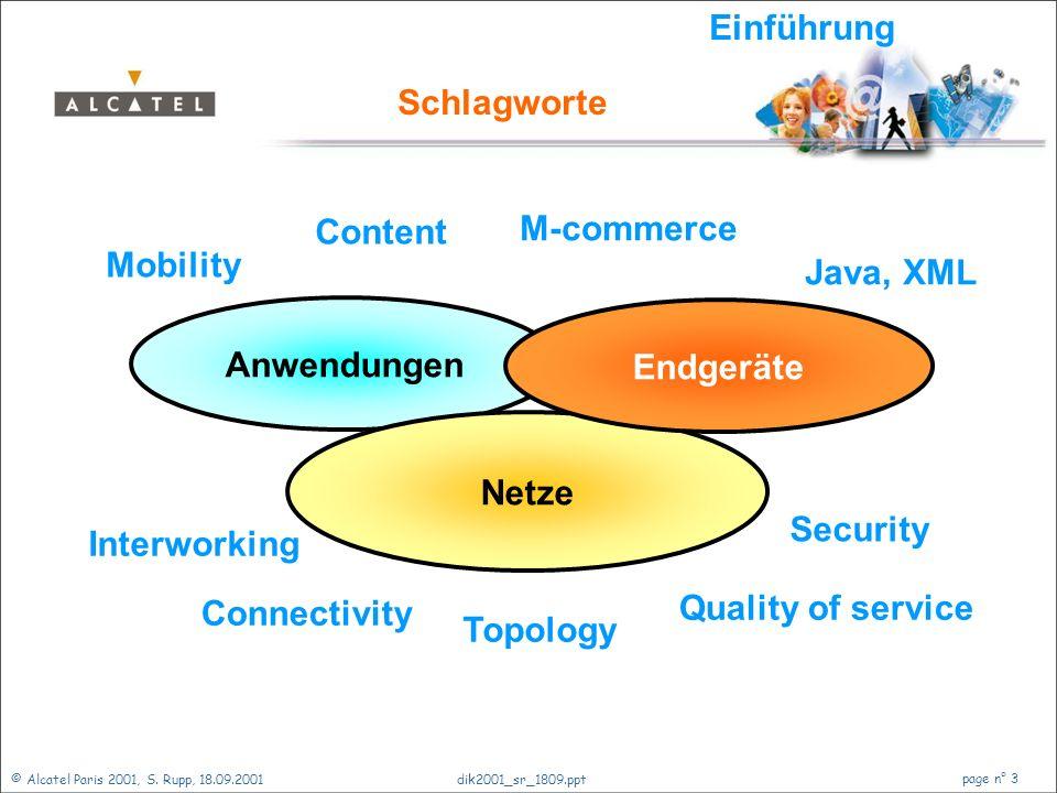 Einführung Schlagworte. Content. M-commerce. Mobility. Java, XML. Anwendungen. Endgeräte. Netze.