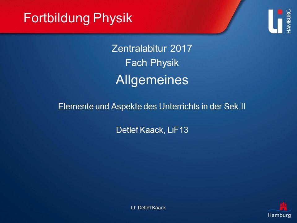 Elemente und Aspekte des Unterrichts in der Sek.II