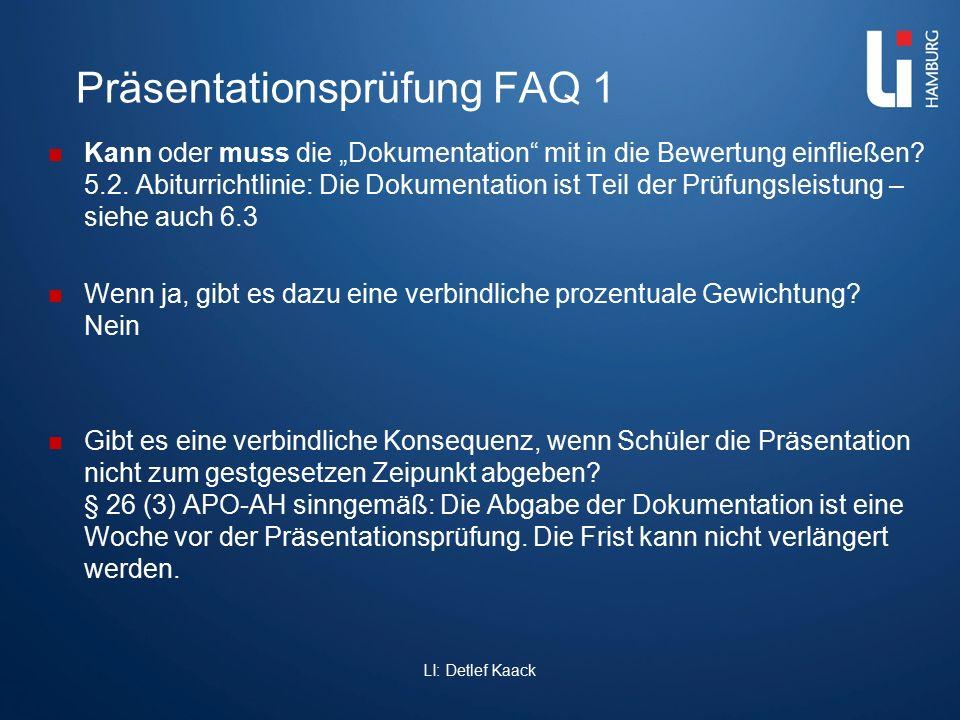 Präsentationsprüfung FAQ 1