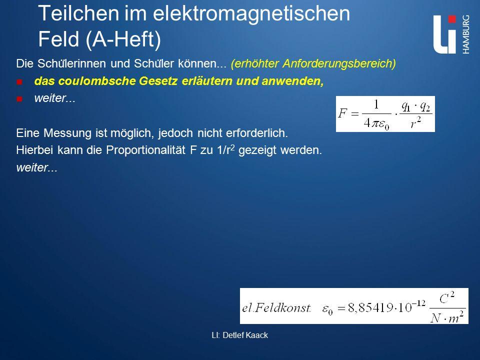 Teilchen im elektromagnetischen Feld (A-Heft)