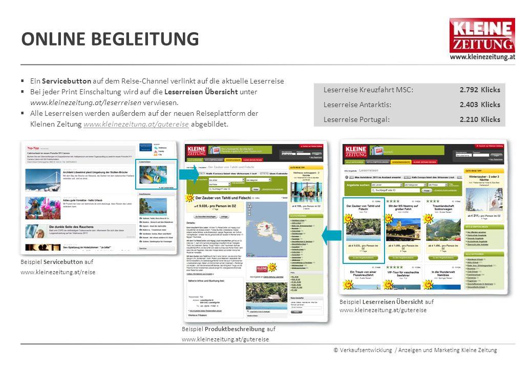 Online Begleitung Ein Servicebutton auf dem Reise-Channel verlinkt auf die aktuelle Leserreise.