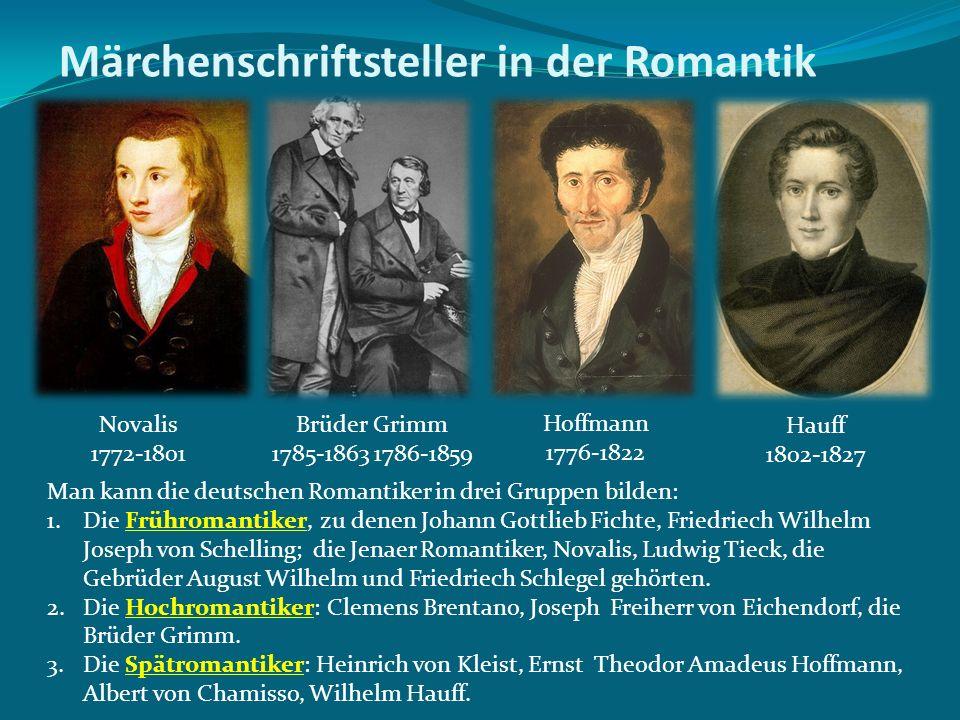 Märchenschriftsteller in der Romantik