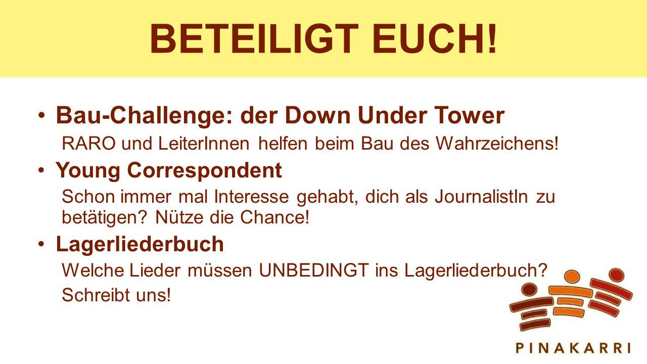BETEILIGT EUCH! Bau-Challenge: der Down Under Tower